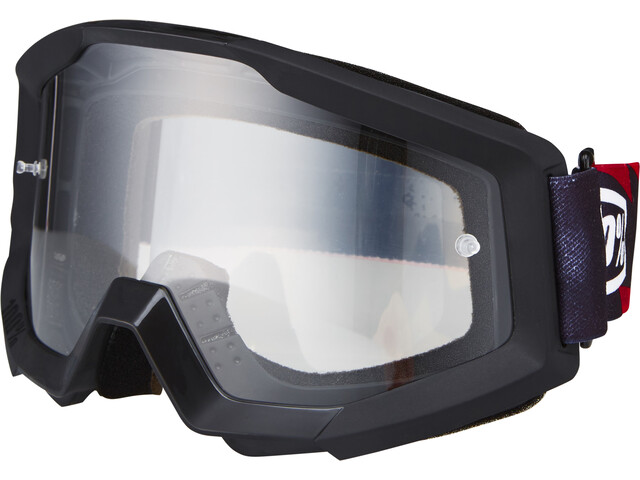 100% Strata Goggles slash/anti fog clear